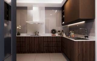 Bukit Jelutong, Double Storey House - Kitchen Full View